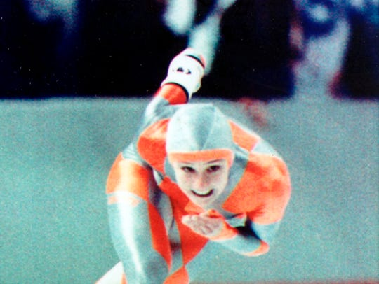 Bonnie Blair won five gold medals over three Olympics.