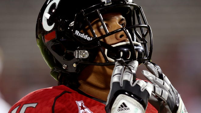 Bearcats WR Chris Moore in October of 2013.