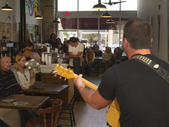 Christ Brown performs at Cafe Volan on Bangs Ave in