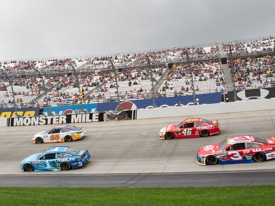 NASCAR racers compete at Dover International Speedway in this file photo. 2019 is the 50th anniversary of the Monster Mile speedway.