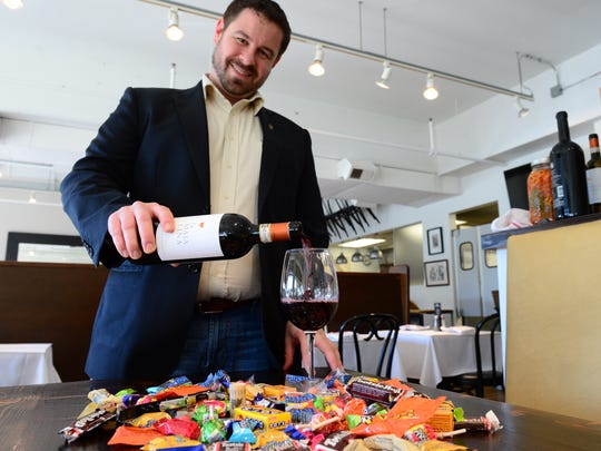Mike Zygmonski, Wine Director at SODEL Concepts, pours