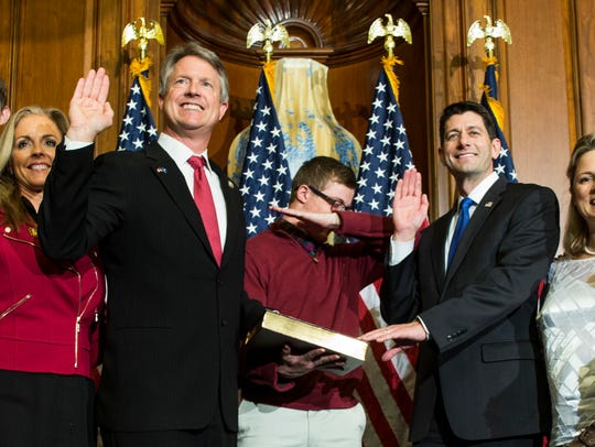 House Speaker Paul Ryan of Wis. administers the House