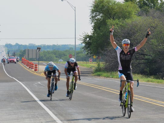 Colin Strickland wins the 2015 HHH road race. Strickland