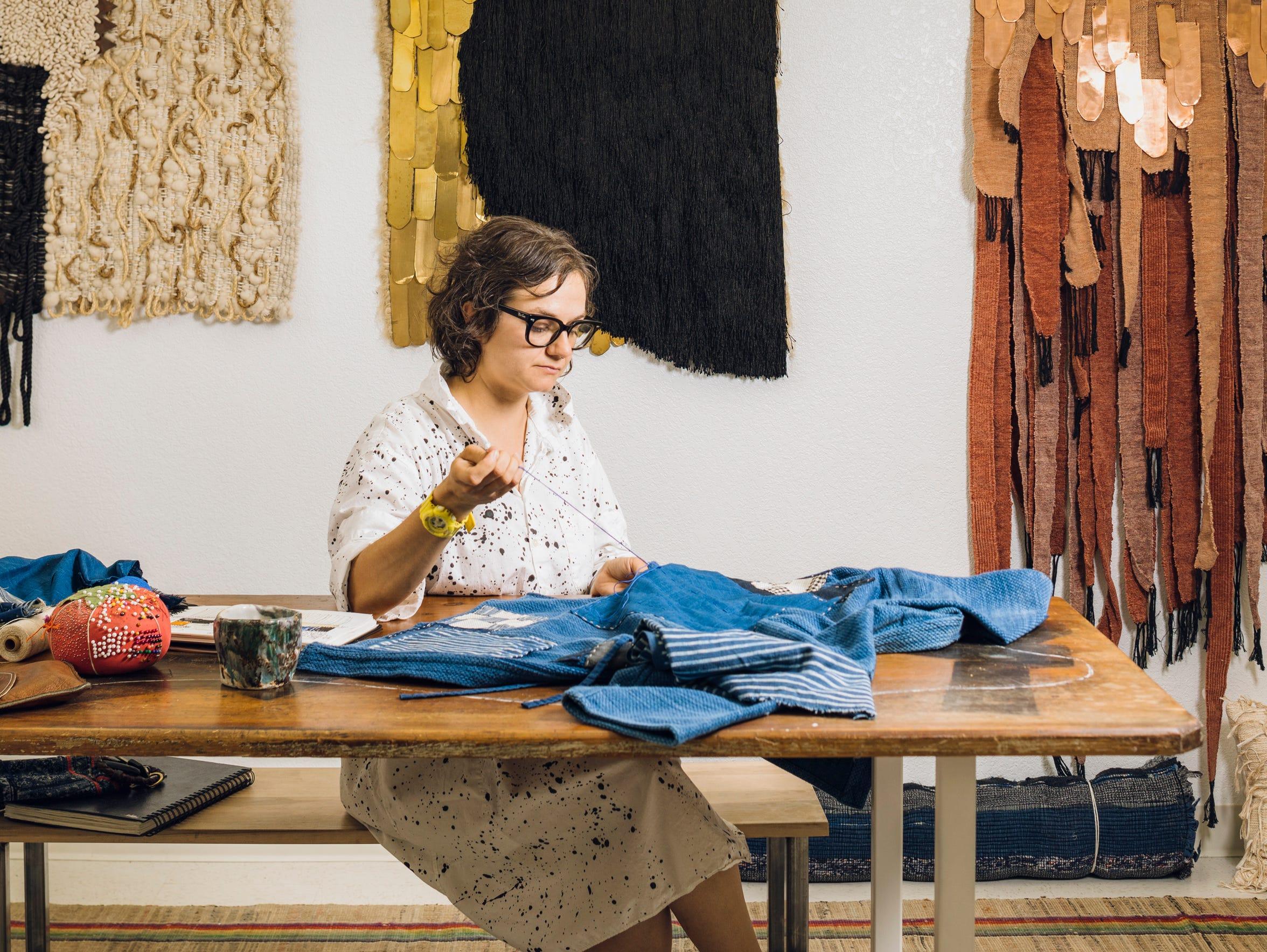 Textile artist Janelle Pietrzak