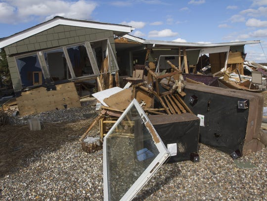 Sandy destroyed this home in the Mystic Island section