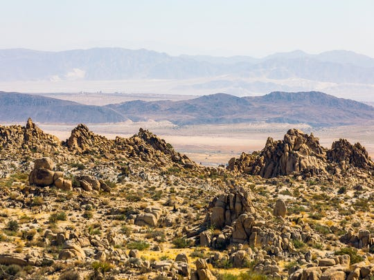 Copper Mountain rises in the distance over Joshua Tree