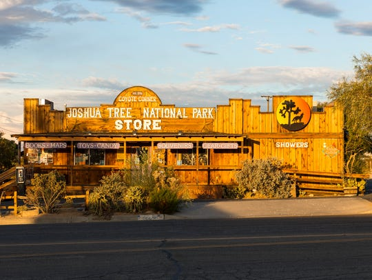 Coyote Corner in downtown Joshua Tree has seen business go up by about 500 percent over the past five years, and especially saw a boost in 2016 as more people come to visit Joshua Tree National Park.