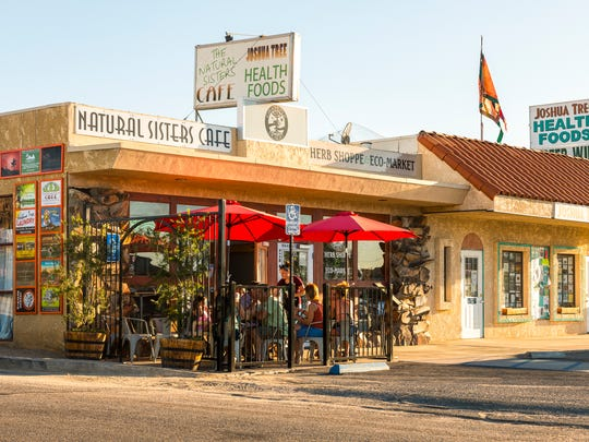 Natural Sisters Cafe in downtown Joshua Tree