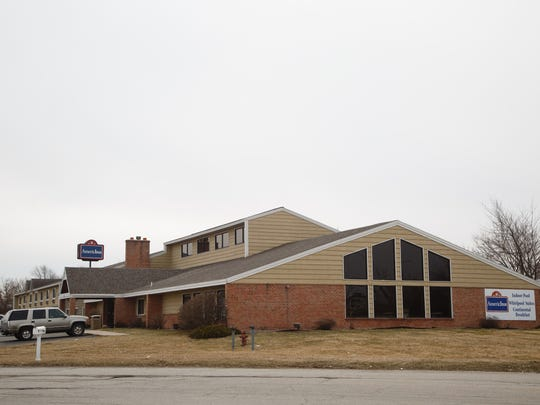 The AmericInn in Burlington operated at nearly full capacity during construction of the Iowa Fertilizer Co. plant. The inn is shown on Tuesday, March 20, 2018, in Wever.
