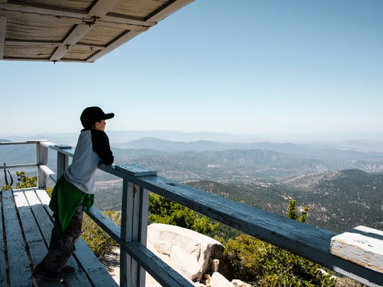 Tahquitz Peak Lookout is located on the highest peak above Idyllwild and is where volunteers keep watch for fires.