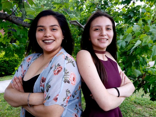 Sisters Adriana Sanchez, left,  Holloway High's 2018 valedictorian, and Melissa Sanchez, class salutatorian, were driven by sibling rivalry.