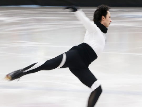 Johnny Weir works out in preparation for his performances this weekend at the Skating Club of Wilmington's 2017 Spring Ice Show.