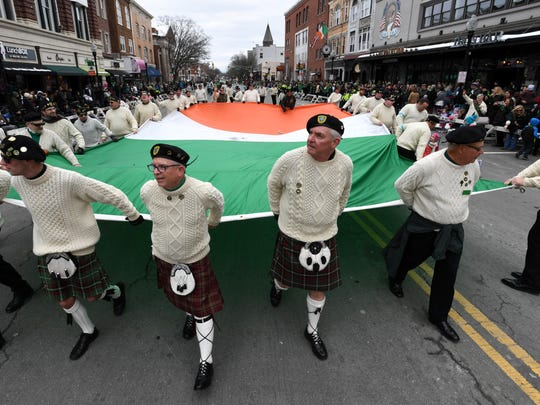 Morris County St. Patrick's Day parade in Morristown,