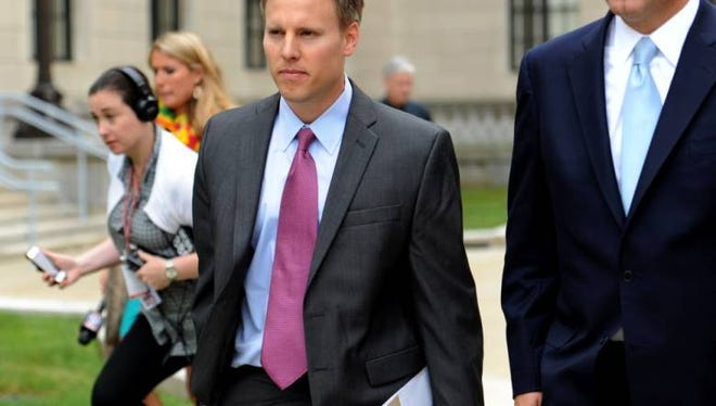 Bill Stepien (center) has been hired by Donald Trump's campaign, reports say.