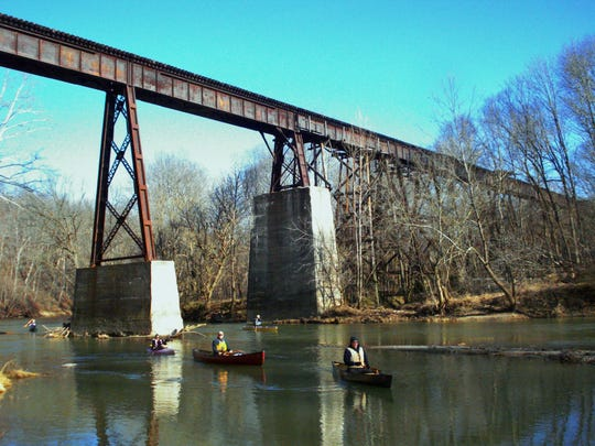 Monon High Bridge over Deer Creek is the second highest rail trestle in Indiana and was last used by CSX in 1987.