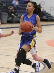 Ontario's Nashail Shelby makes a shot while playing
