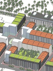 Old Capitol Green, seen here in an artist rendering, was going to add 4,300 mixed-income living units to the downtown area. But plans fell apart over financing.