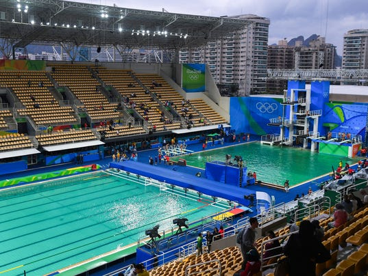 View Of The Diving Synchronized Swimming And Water Polo Pools For Rio Games On Aug 10 Photo Christopher Hanewinckel USA TODAY Sports