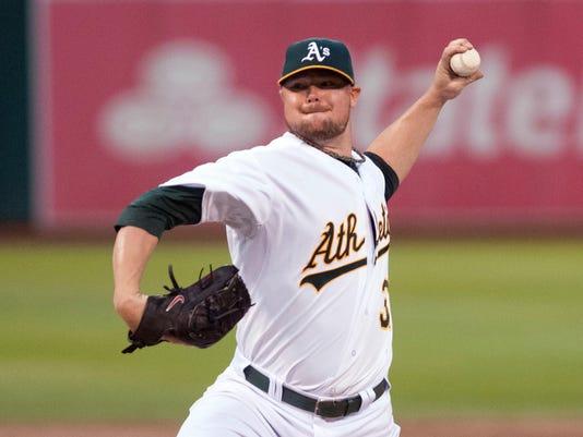 MLB: Philadelphia Phillies at Oakland Athletics