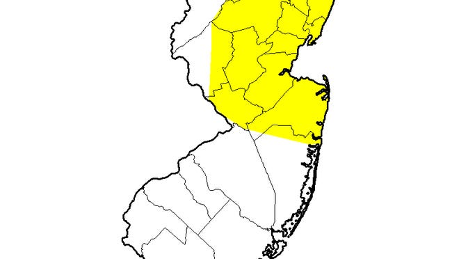 Nearly two-fifths of New Jersey is abormally dry
