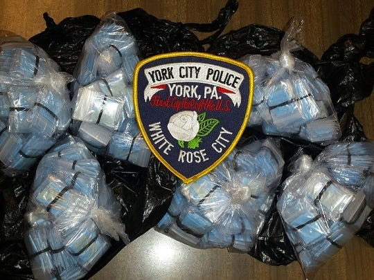 About $25,000 in heroin was seized Tuesday in York when police arrested 64-year-old Ramon Luis Torres.