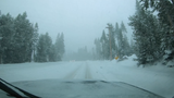 Time-lapse video of the drive on Squaw Valley Road on Thursday, March 1, 2018 after a winter storm dropped more than 7 inches of snow overnight.