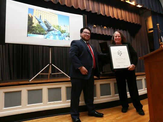 Vice President-elect Robert Diaz presented a framed