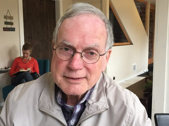 Norm English stopped by the Creekside Chat at Silver Creek Coffee House to provide an update on the 125-year celebration of Silverton's Trinity Lutheran Church coming up the first weekend in June.