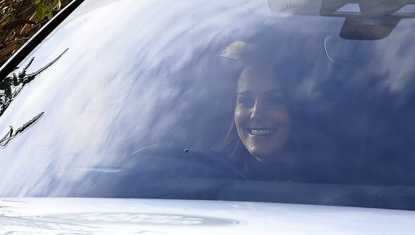 The duchess was all smiles!