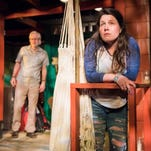 "Peter Reeves and Sara Zientek perform in Milwaukee Chamber Theatre's production of ""Slowgirl."""