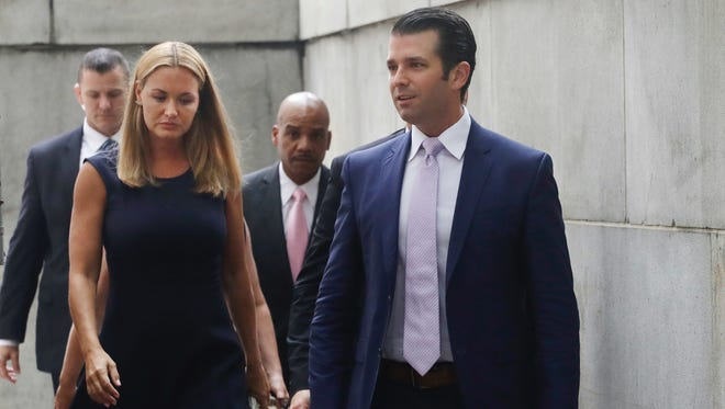 Donald Trump Jr. and his wife Vanessa met in New York State Supreme Court for a hearing on their divorce proceedings.