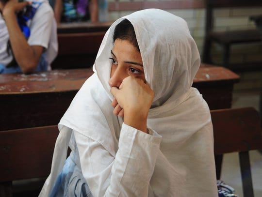 Girl in Malala school