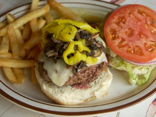 Burger madness at Arthur's.