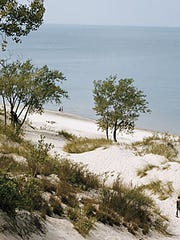 Indiana Dunes State Park has the three highest sand dunes in the state.