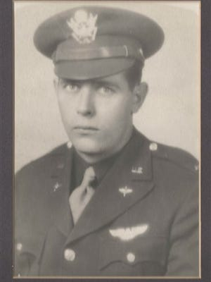 """This image provided by Sandi Jones shows 1st Lt. William """"Laddie"""" Bernier, whose remains have been identified and will be returned to family members 70 years after his B-24 bomber was shot down over Papua New Guinea during World War II. Bernier was the bombardier, stationed in a glass cockpit in the aircraft?s nose and responsible for sighting and releasing its bombs. (AP Photo/Sandi Jones)"""