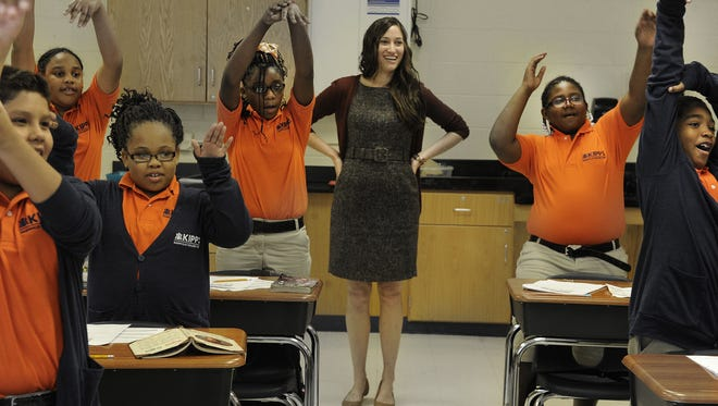 Nikki Miller, KIPP Nashville College Prep School principal, stays active with students at the charter school.