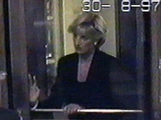 Security footage captures Princess Diana arriving at