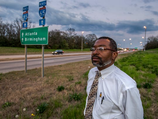 Skip Jackson discusses, on Thursday February 22, 2018, the building of I-65 and I-85 through his neighborhood in Montgomery, Ala.