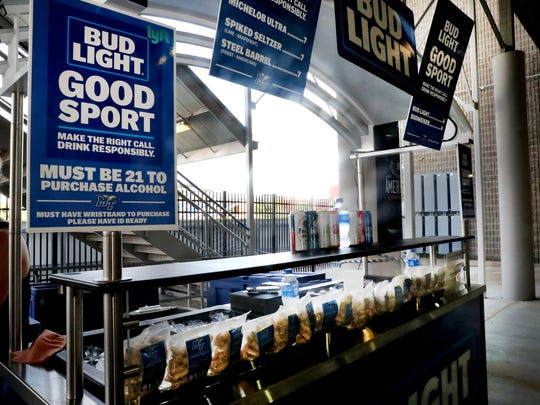 MTSU sold beer at Floyd Stadium for the first time at the home opener against UT Martin on Sept. 8, 2018.