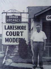 """M.O. """"Monty"""" Montgomery in front of his resort at Lakeview."""