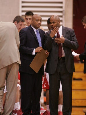Marlon Sears, right, got hired by Bill Courtney soon after Courtney took over the Cornell program following the 2009-10 season.