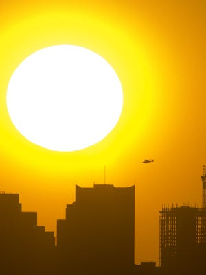 An excessive-heat warning has been issued Saturday for the Phoenix area and Wickenburg beginning at 10 a.m. and is expected to end 8 p.m. Saturday.
