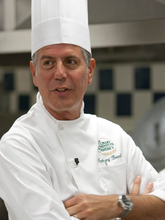Anthony Bourdain visits The Culinary Institute of America's Hyde Park Campus on September 22, 2009