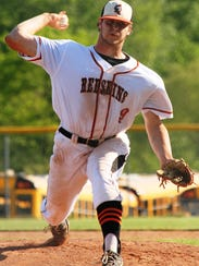 Anderson High School senior Zack Shannon pitches against