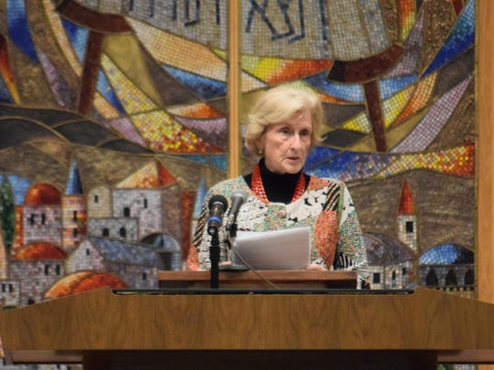 Holocaust survivor Inge Fixler of Northfield delivered the keynote address during Yom HaShoah.