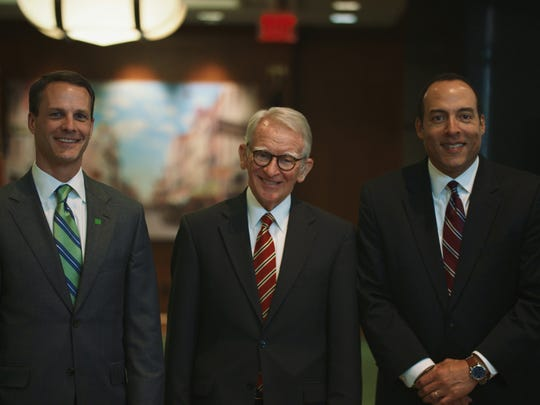 (L-R) David Lominack, South Carolina Market President of TD Bank; Joseph Riley, former mayor of Charleston and Michael B. Moore, CEO of the International AFrican American Museum.