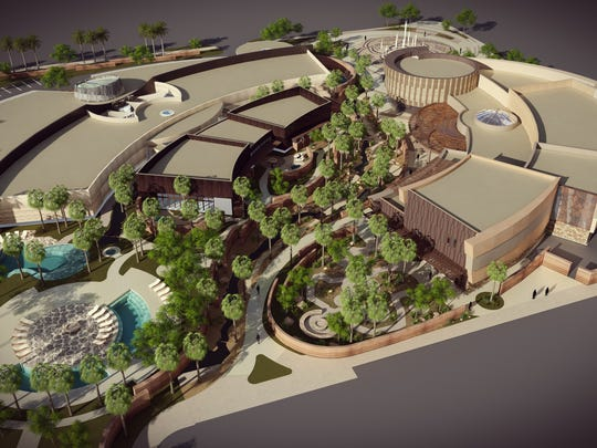 The planned Agua Caliente Cultural Museum, and Spa and Bathhouse in Palm Springs.