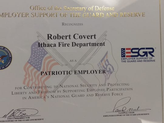 The Department of Defense recognizes the Ithaca Fire