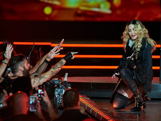 Madonna performs at a concert at New York's Madison Square Garden Sept. 16, 2015, just a week before the singer dedicated a performance to Pope Francis at her Philadelphia show on the eve of the papal visit.