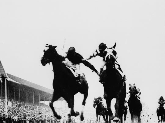 This photo of the 1933 Kentucky Derby is known as the Fighting Finish.